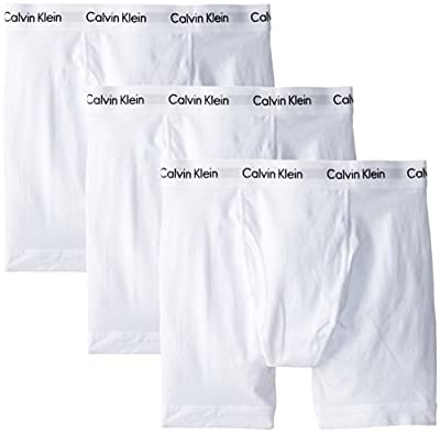 Calvin Klein Men's Cotton Stretch Multipack Boxer Briefs, White, Medium from Calvin Klein Men's Underwear