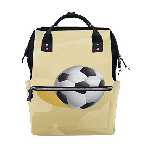 Bolsa de pañales para mamá con mayor capacidad para pañales de fútbol, en la playa, arena, mochila de viaje