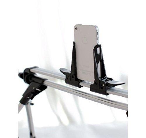 Aussel Universelle Tragbar Verstellbar Zusammenklappbar Flexible Faule Bracket Mobiles Stand Technischer Bed Desktop Home Tablet Halter Halterung Lange Weniger als 24cm für Samsung Galaxy Tab iPad 1 2 3 4 5 Air iPhone 6 / 6 plus Faule Faule neben Bett (Schwarz)