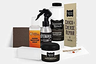 Automotive Leather/Vinyl Crack/Crease Repair Kit for Rolls Royce/Ferrari/Land Rover with Leather Master Protection Cream (16oz, Light Flint) (16oz, Brown)