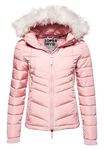 Superdry Damen Jacke LUXE FUJI, Rosa (Pale Pink 11R), 40 (Herstellergröße: M)