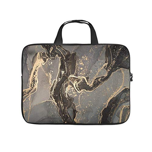 Water Resistant Marble Texture Ink Laptop Tote Bag Laptop Bag Case -Abstract Art for Computer Notebook White 17 Zoll