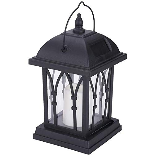 SODIAL Waterproof Solar Lantern Light Portable Hanging Flame Lantern Outdoor Decorative Lamp for Garden Lawn Landscape Lights