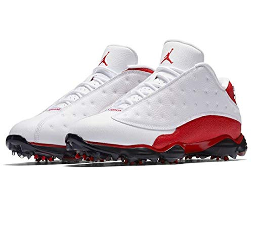 [ナイキ] Air Jordan 13 XIII Retro Golf メンズ White/University Red ジョーダン ゴルフシューズ GOLF SHOES (28.5) [並行輸入品]