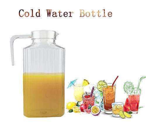 Acryl Kruik met Praktisch Handvat en Deksel, Transparant Grote Ice Tea Juice Kruik IJs en Drankjes Goed Verbreken, Grote Capaciteit voor Zelfgemaakte Dranken/Melk/Koffie/Water
