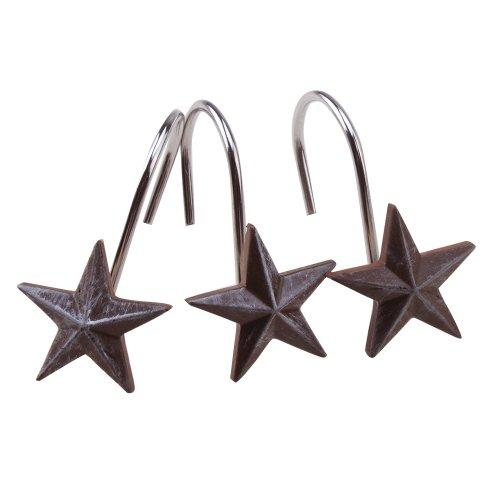 AGPtek Star Decorative Shower Curtain Hooks, Set of 12