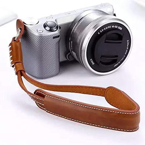 Correa de muñeca ajustable de cuero retro para cámara Nikon Sony, Panasonic,...