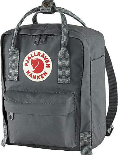 Fjallraven Unisex Adult Kånken Mini Backpack, Super Grey-Chess Pattern, OneSize