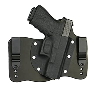 FoxX Holsters Compatible for Glock 19 23 & 32 in The Waistband Hybrid Holster  Black