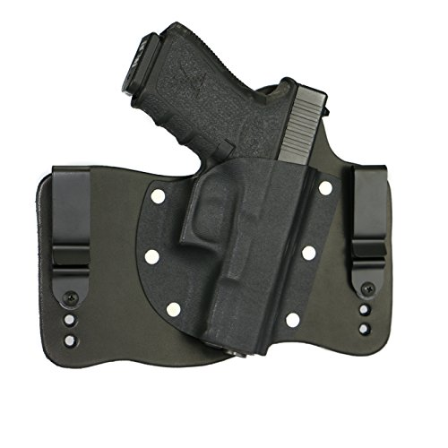 FoxX Holsters Compatible for Glock 19, 23, & 32 in The Waistband Hybrid Holster (Black)