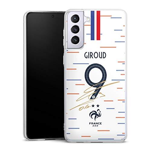 DeinDesign Hard Case kompatibel mit Samsung Galaxy S21 Plus 5G Schutzhülle transparent Smartphone Backcover Giroud Nationalmannschaft Trikot