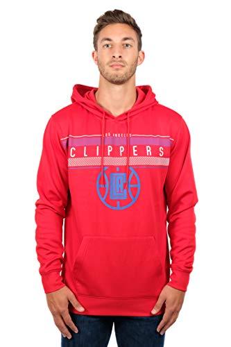 Ultra Game NBA Los Angeles Clippers Mens Fleece Midtown Pullover Sweatshirt, Team Color, Medium