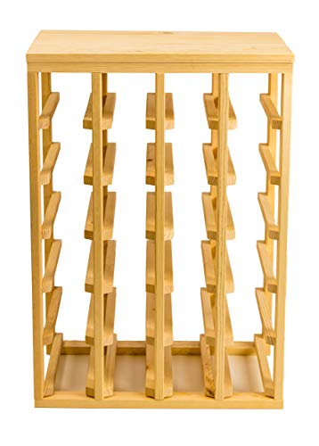 Creekside 24 Bottle Table Wine Rack Pine by Creekside - Exclusive 12 inch deep design conceals entire wine bottles Hand-sanded to perfection Pine