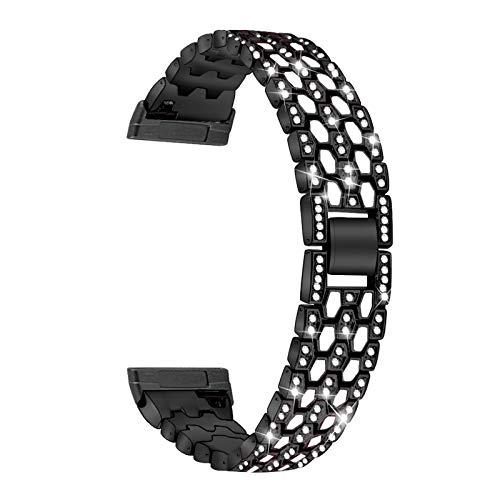 kdjsic Correa de Pulsera de aleación de Zinc de Metal, Correa de Reloj, Correa de muñeca para-Fitbit Versa3 / Sense, Accesorios de Reloj Inteligente de Repuesto