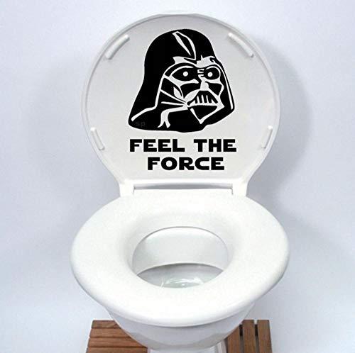 Ghgd Star Wars Toilettensitz Aufkleber Cartoon Cartoon Aufkleber Home Decoration Schwarz 30 * 22.7Cm