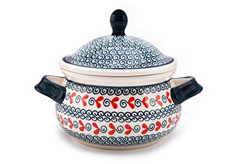 Bunzlauer Keramik Marmeladentopf / Suppentasse / Schmalztopf / Honigtopf, 0,75 Liter im Dekor 1138