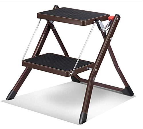 Ladder Huis Binnen Mini Twee-staps Kleine Ladder Antislip-Ladder Draagbare Vouwladder Herringbone Ladder IJzeren Stap Kruk 49 * 48,5 * 44,5 cm