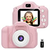 GlobalCrown Kinder Kamera,Mini wiederaufladbare Kinder Digitalkamera Stoßfeste Video Camcorder...