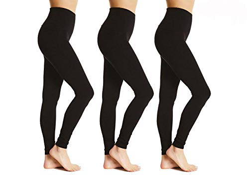 Bonjour® Women's Full Length Cotton Leggings Soft, Plus...