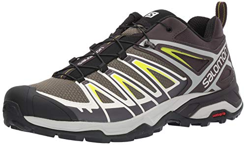 SALOMON Shoes X Ultra, Scarpe da Trekking Uomo, Multicolor (Burnt Olive/Shale/Acid Lime), 45 1/3 EU