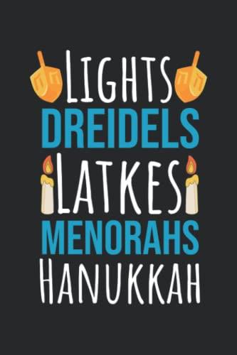 Menorahs Latkes Dreidels Hanukkah: Funny Hanukkah 2021 Jewish Holiday Dreidel Menorah Notebook / College Ruled / Journal / Diary For Women And Men