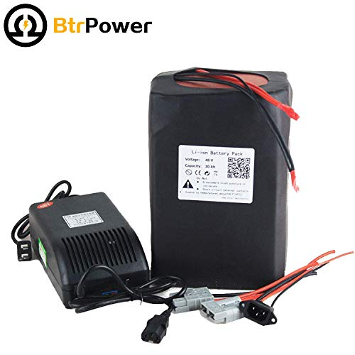 Buy BtrPower 48V E-Bike Battery 10AH - 50AH Lithium ion / Lifeo4 Battery Pack with 5A Charger,50A BM...