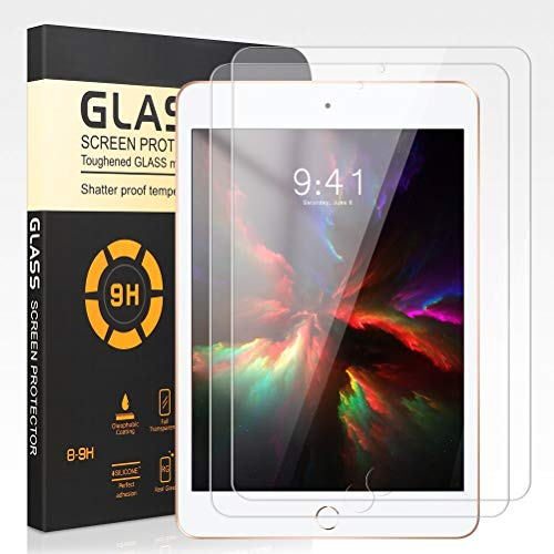 [2 Pack] Screen Protector for iPad Mini 5, 9H Hardness, Anti Scratch, HD Transparent, No Bubbles and High Definition Premium Tempered Glass Screen Protector Compatible iPad mini 4 7.9 inch