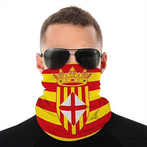 Holefg3b Polaina de Cuello Cubierta a Prueba de Viento Cubierta Escudo Pasamontañas Bufanda Cubierta Bandera de Barcelona es una Provincia de España Cubierta de Boca