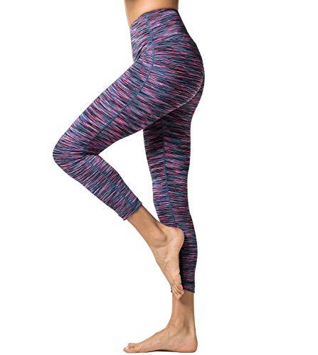 LAPASA Pantalón Deportivo de Mujer Cintura Alta con Bolsillo Malla para Running Yoga y Ejercicio. L01