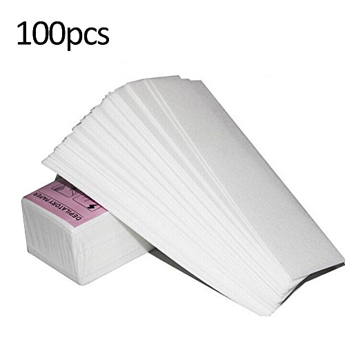Roeam Bandas de Papel para Depilación con Cera,100 PCS Depilación Nonwoven Quitar Depiladora de Papel Depilatory Waxing Cosmetología Smooth Legs Body Hair-Strips Wax Salon para la Depilación
