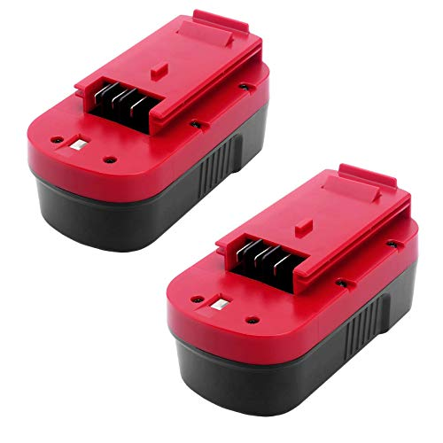 2Packs 4.0Ah HPB18 Replacement for Black and Decker 18V Battery HPB18-OPE 244760-00 A1718 FS18FL FSB18 Compatible with Black and Decker 18 Volt Cordless Power Tools