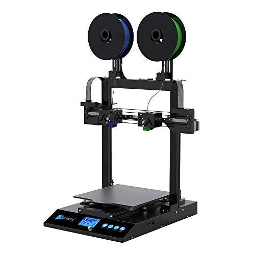 JGMaker Artist-D stampante 3D a doppio estrusore indipendente, filamento di alimentazione diretto, supporto PLA, TPU, PETG, dimensioni stampa: 11,81