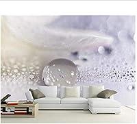 Bosakp 壁紙3D写真壁画水滴クローズアップ微視的水滴テクスチャ風景壁画3D壁紙 200X140Cm
