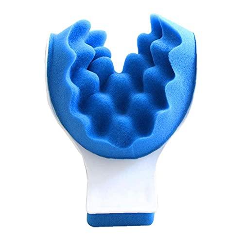 Yililay Almohada de Masaje quiropráctica Almohada Cuello de tracción Almohada Cuello masajeador Relajante Muscular para el Cuello Relajante Azul Sofisticado tecnología