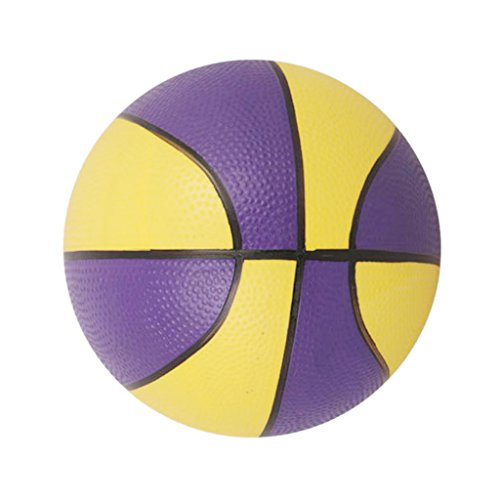 Mini-basket Coloré Jouet de Sports d'Intérieur/d'Extérieur pour Enfants - Pourpre Et Jaune