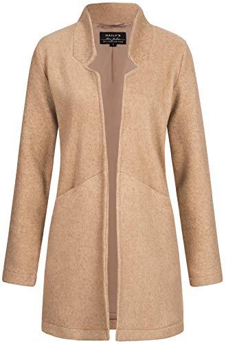 Hailys Damen Kurzmantel Nella Jacke mit Reverskragen YU-1803027 beige Marl L