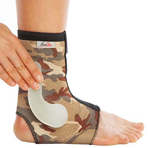 Soporte para tobillo de camuflaje Malleoloc, protección para almohadillas con cierre de velcro