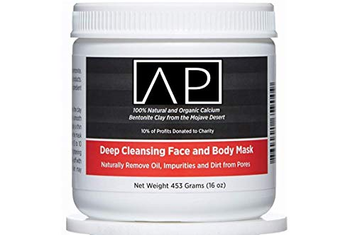 Aztec Premium Indian Healing Clay, Deep Pore Cleansing Face & Body Mask Powder, STERILIZED Without Radiation, Chemicals or Preservatives, 100% Natural & Organic Calcium Bentonite Clay, 16 Oz