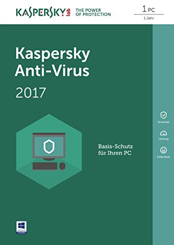 Kaspersky Anti-Virus 2017 (Code in a Box) Vollversion - 1 PC / 1 Jahr