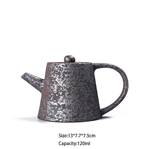 225ml Handmade Vintage Japanese Taiwan Teapot Wood Fired Tea Pot Ceramics Coarse Pottery Kung Fu Tea Set Drinkware Ornaments,D