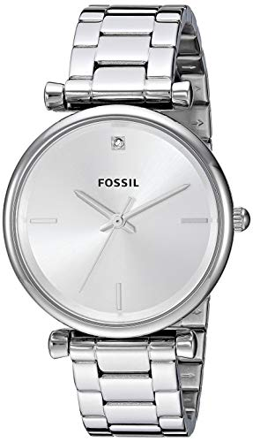 FOSSIL Damen Analog Quarz Uhr mit Edelstahl Armband ES4440