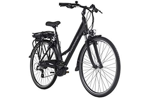 Adore E-Trekking Bike Damen 28'' Marseille schwarz 250Watt Li-Ion 37V/13Ah 24Gänge