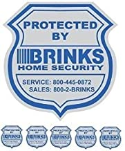 1 Home Security Yard Sign and 5 Security Stickers Decals