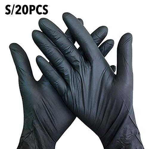 Einweghandschuhe, Nitril Elastisch Atmungsaktiver Handschutz Schwarz Tägliches Zubehör Für Den Küchenservice Schönheitsmechaniker Reinigung Tattoo-Industrie