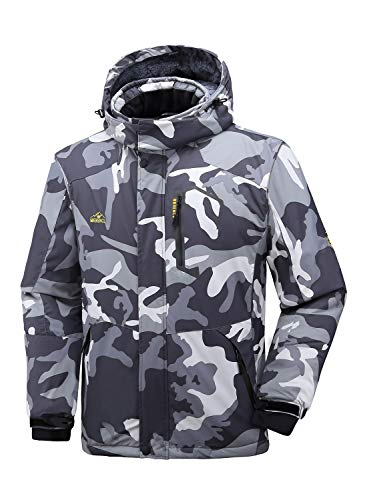 Men Snowboard Jackets Camo
