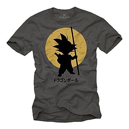 MAKAYA Camiseta Son Goku - Dragon - Gris L