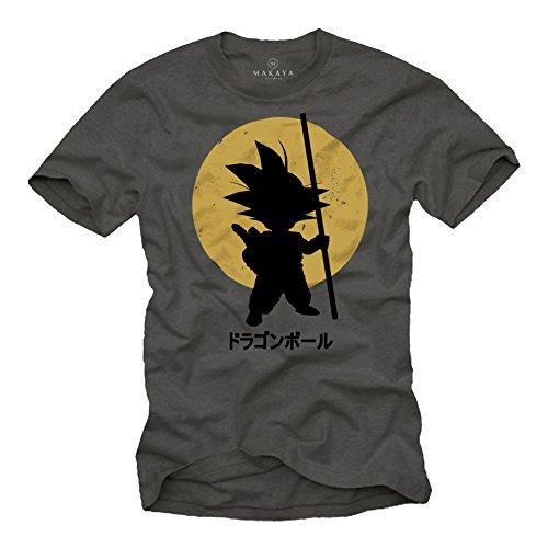 Dragon T-Shirt Son Goku grau Größe XL