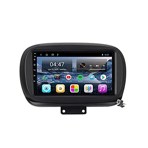 Android 10 9 Pollici Autoradio Multimediale per Fiat 500X 2014-2020 Supporto Navigatore GPS/FM AM RDS 5G DSP/Bluetooth Vivavoce/Carplay Android Auto/Controllo del Volante,M100