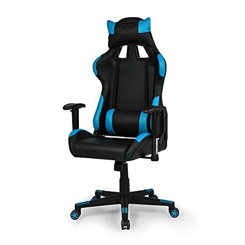 Due-Home - Silla ergonomica de Oficina Gaming Silvertone, sillón Giratorio para Escritorio, Estudio o despacho Color Turquesa, Medidas: 67x124x68 cm de Fondo