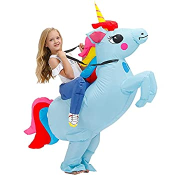 Kooy Inflatable Costume For Kids,Unicorn Costume Funny Fancy Dress Blow Up Costumes Halloween Kids Costumes